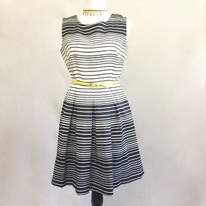 Fir and Flare Taylor midi striped  dress size 10